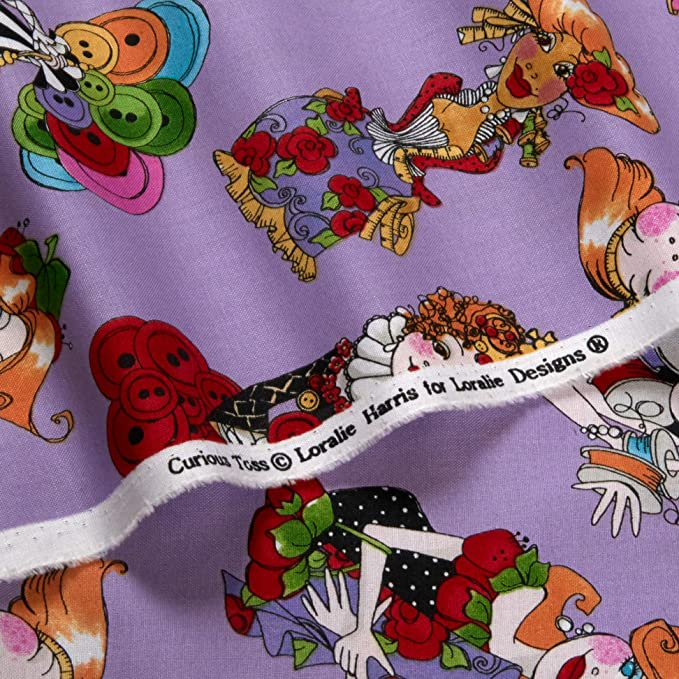 ApronEsque Tossed Skirts Apron White Loralie Designs Fabric Cotton YARD