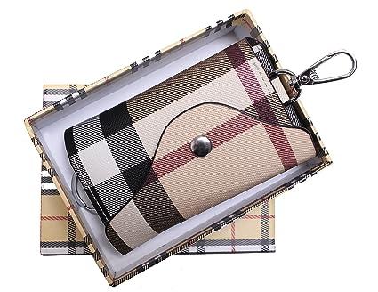 e396c1f43b5f Amazon.com  Olivery Fashion Leather Keychain Key Holder Wallet