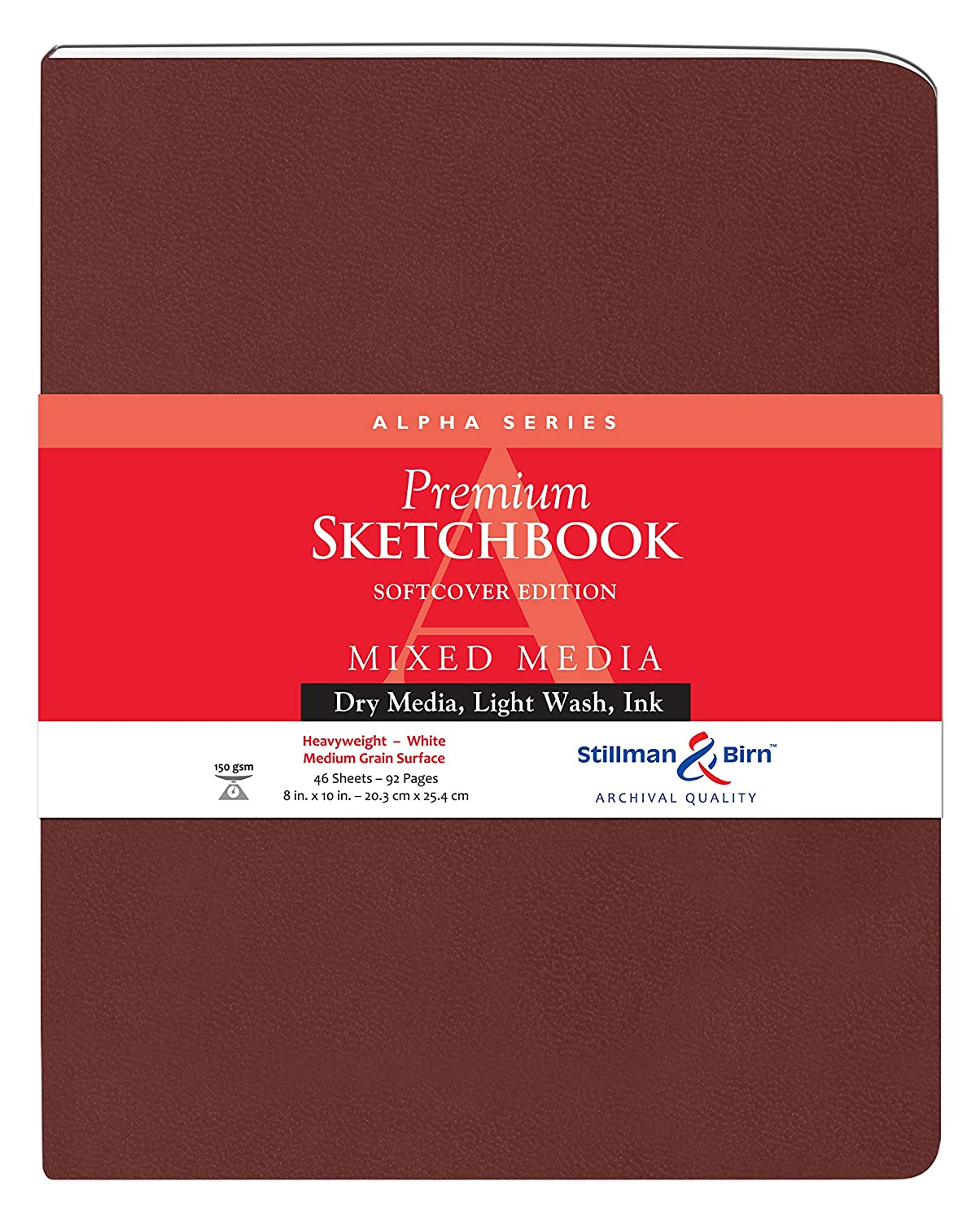 Alpha Softcover Sketchbook 8X10 by Stillman & Birn