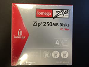 Iomega 4PK ZIP 250MB DISKS IN SLEEVES - PC/MAC (Discontinued by Manufacturer)
