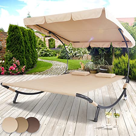Superieur Miadomodo Sun Lounger Double Day Bed Hammock Chaise Outdoor Shade Canopy Garden  Furniture In Different Colours