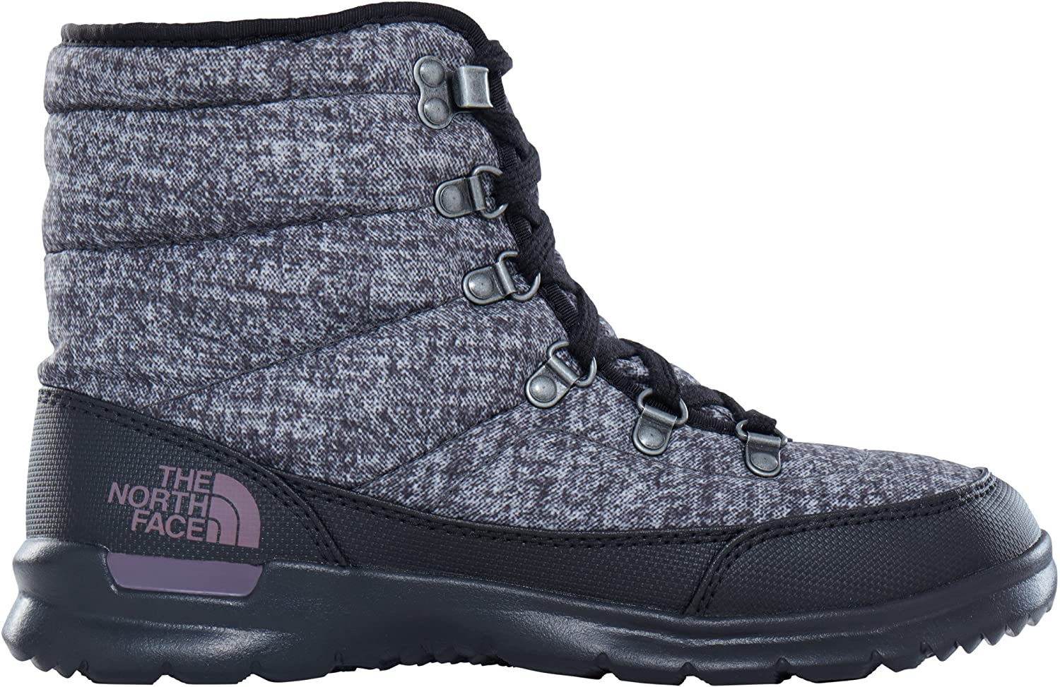 The North Face Womens Thermoball Lace II B01N2VP43U 8 B(M) US|Burnished Houndstooth Print/Black Plum (Past Season)