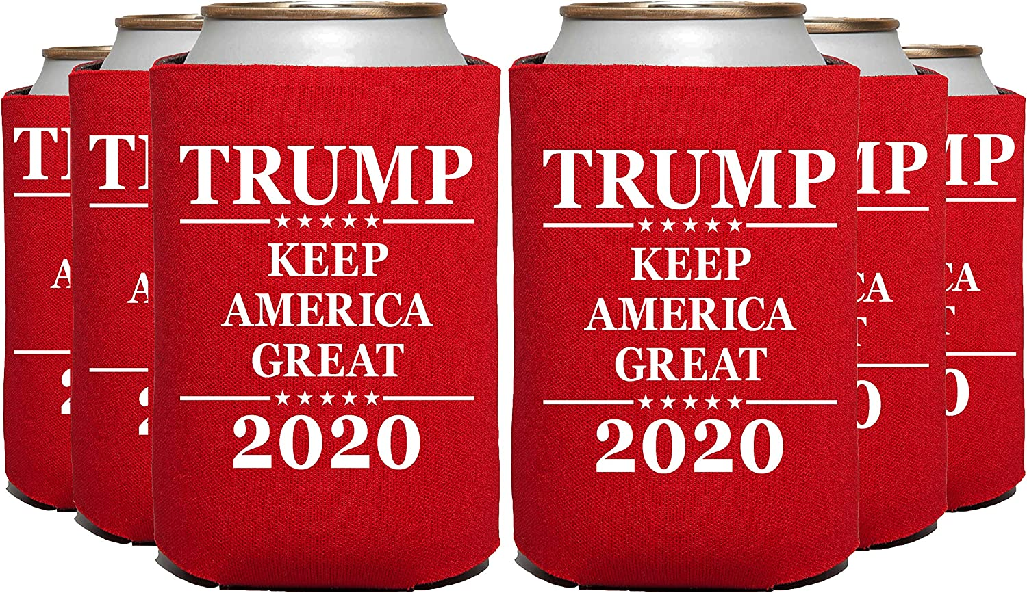 12 Pc RED ELEPHIELD Trump 2020 Keep America Great Can Cooler