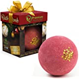 Bath Bomb Christmas Gift Idea - LARGE Bathbomb Ornament Stocking Stuffer Best Holiday Xmas Presents For Her Him Women Men Kids Mom Dad Couple Wife Friends Fizyy Bubble Bathbombs With Essential Oils