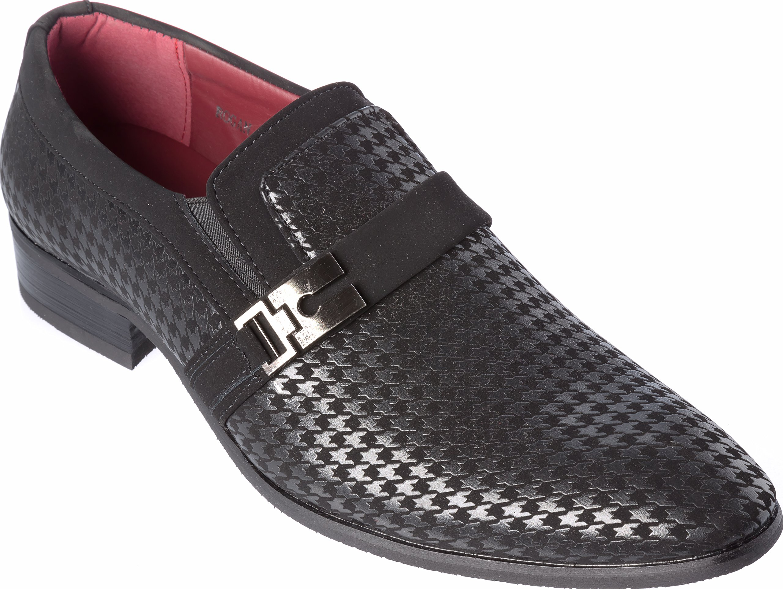 Mens Slip-On Fashion-Loafer Black Shoes Size 10.5