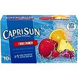 Capri Sun Fruit Punch Flavored Juice Drink Blend, 10 ct - Pouches, 60.0 fl oz Box (Pack of 4)