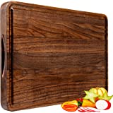 Large Walnut Wood Cutting Board for Kitchen 18x12 Cheese Charcuterie Board (Gift Box Included) Extra Thick Reversible…