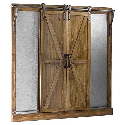 Amazon.com: American Art Décor Rustic Wood and Metal Chalkboard ...