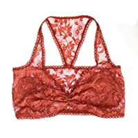 Auburn Lace Bralette. Soft Wireless Bra. Handmade Lingerie. Floral Top c12ec528c