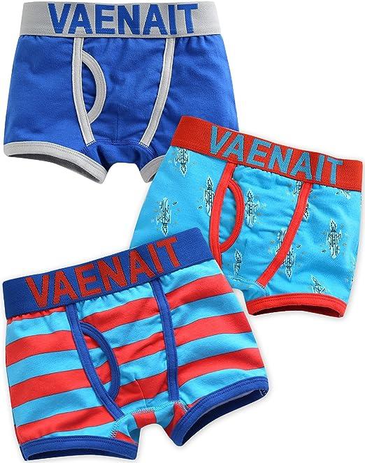 Vaenait baby 2 – 7 años niños 100% algodón Ropa Interior Slip 3 Pack Set Boxer Azul Rocket: Amazon.es: Ropa y accesorios
