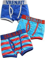 78c0bde681 Vaenait baby 2T-7T Boys Boxer Briefs 3-Pack Underwear Set Boxer Blue Rocket