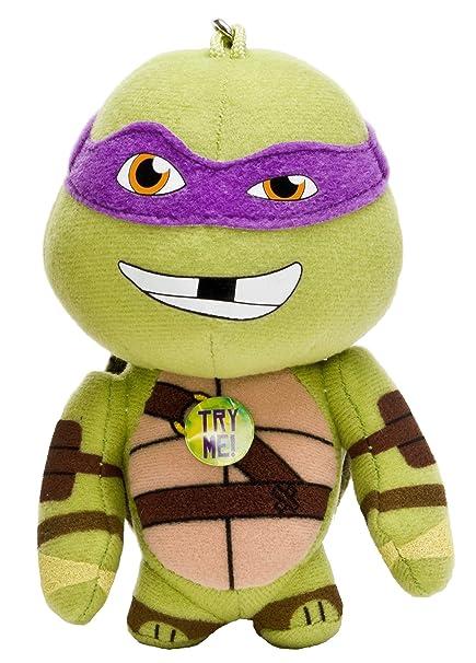 Teenage Mutant Ninja Turtles Leonardo, Donatello, Raphael and Michelangelo Assorted Bag Buddies 5 Inch Backpack Clip (010336)