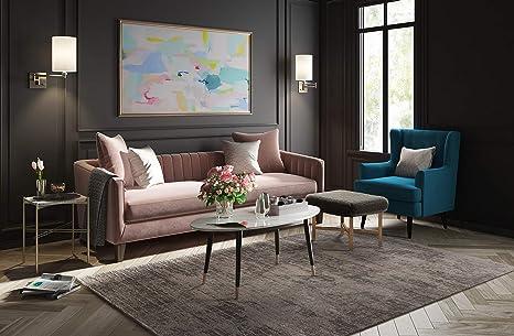 Amazoncom Elle Decor Uph10056a Celeste Accent Chair Teal