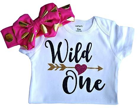 b5b6f9196 1st Birthday Girl - Wild One at Amazon Women's Clothing store: