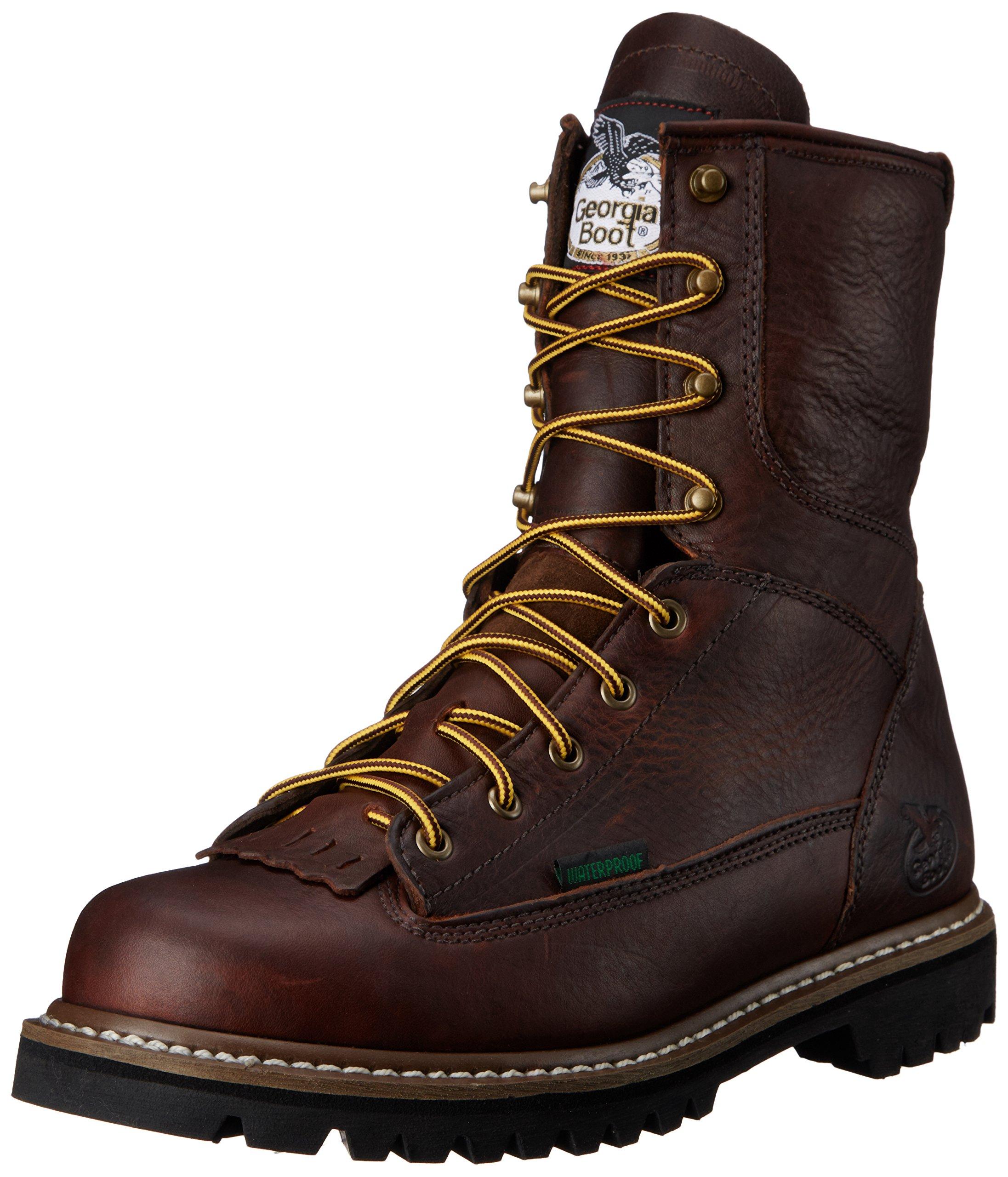 Georgia Men's 8'' Lace-To-Toe M Work Boot, Chocolate, 8 M US