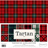 Carta Bella Paper CBTAR82014 Tartan no.2 Collection Kit, Red/Green Navy/Black