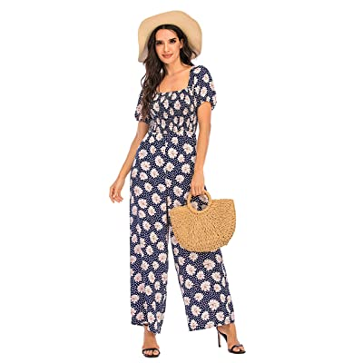 Women Causal Button T-Shirt Rompers Short Sleeve Solid Loose Dress Jumpsuits