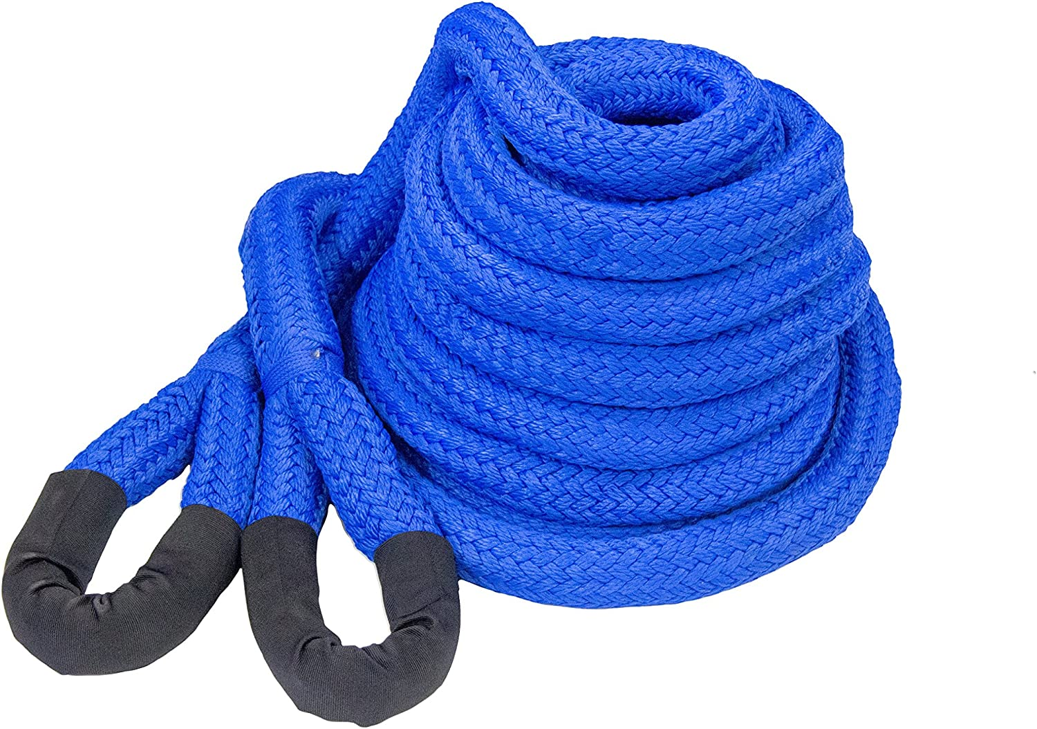 3//4 x 20 DitchPig 448511 Kinetic Energy Vehicle Recovery Double Nylon Braided Rope with Mesh Bag