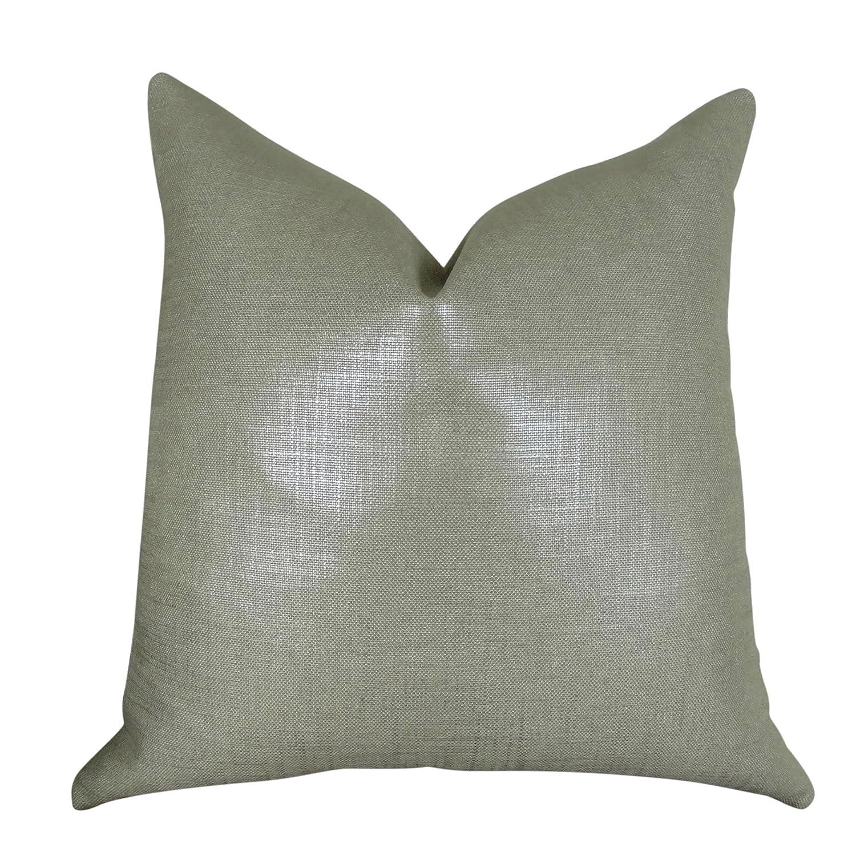 MettalicシルバーグレーMade in USA Luxuryモダンスロー枕、スチールグレー両面装飾枕ソファソファベッド、トーマスコレクション11394 H....Double Sided 26