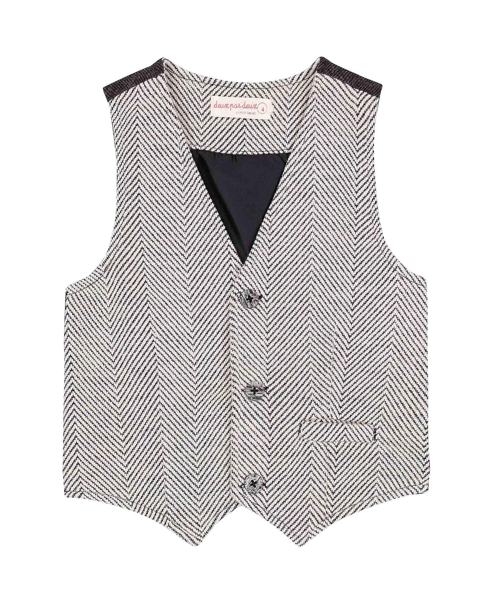 Deux par Deux Boys' Dress Vest Night King, Sizes 3-12 - 4
