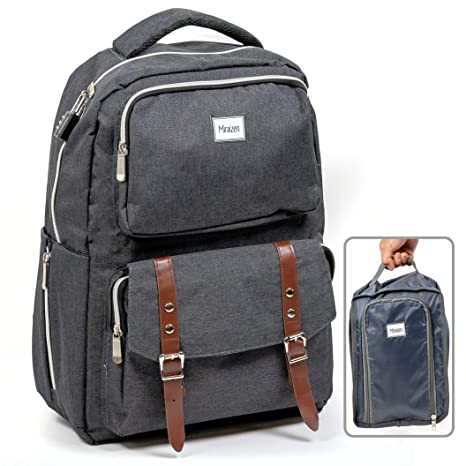 Backpack With Shoe Storage.Smart Business Travel Laptop Usb Anti Theft Backpack Premium Zippers W Slim Combo Lock Dual Expandable Side Holder Shoe Organizer Extra Large