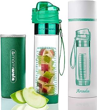 MAMI WATA - Botella de agua con infusor de frutas - Hermosa caja de regalo - Diseño elegante único -