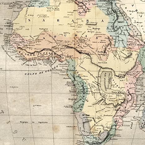 19th Century Africa Map.Amazon Com Africa Remarkable Mythical Lake Mts Of Moon 1855