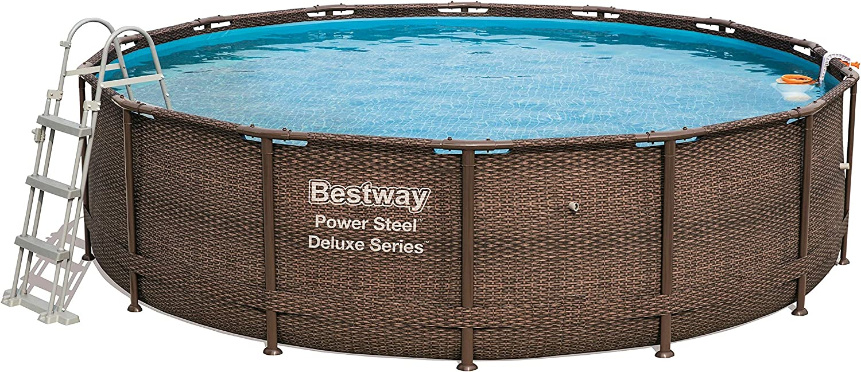 Bestway Piscina Steel Deluxe cm. 427 x 107, Cap. 13.030 LT, Bomba ...