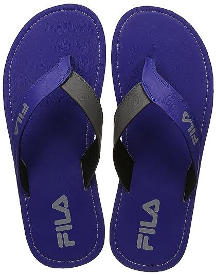 7558664db1cac Fila Men s RYL Blu Lt Gry Flip Flops Thong Sandals-9 UK India (43 EU ...
