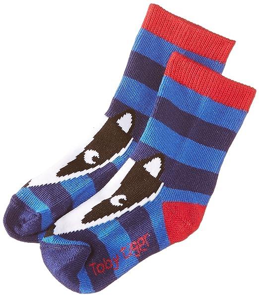 Toby Tiger Blue Badger Socks - Calcetines para niños, color blue, talla 3-