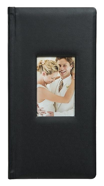 Pinnacle marcos y acentos álbum de fotos de piel, negro: Amazon.es ...