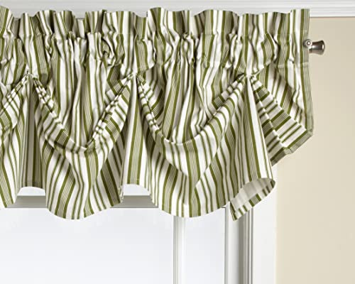 Today s Curtain Gabrielle Cotton 16-Inch Duck Tucked Valance, Sage