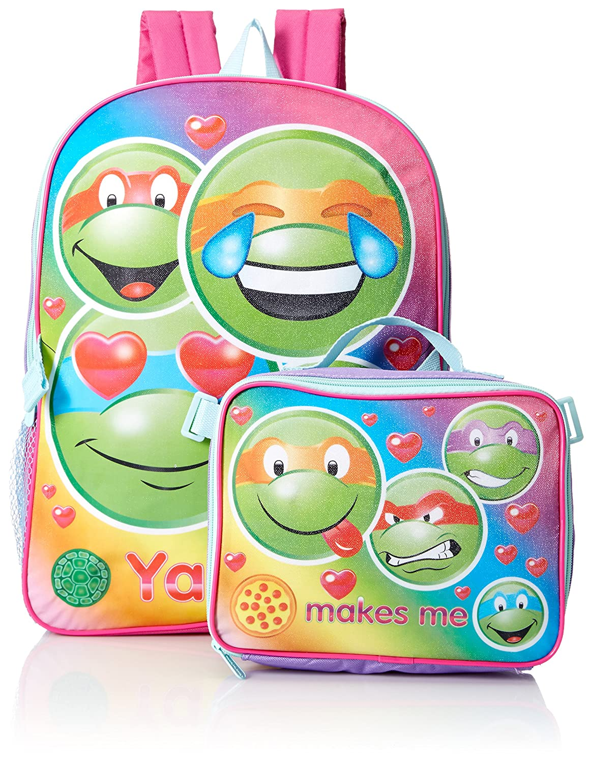 Nickelodeon Girls' Teenage Mutant Ninja Turtles Backpack with Lunch Kit