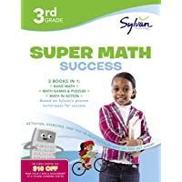 3rd Grade Jumbo Math Success Workbook: 3 Books in 1--Basic Math, Math Games and Puzzles, Math in Action; Activities, Exercises, and Tips to Help Catch ... and Get Ahead (Sylvan Math Jumbo Workbooks)