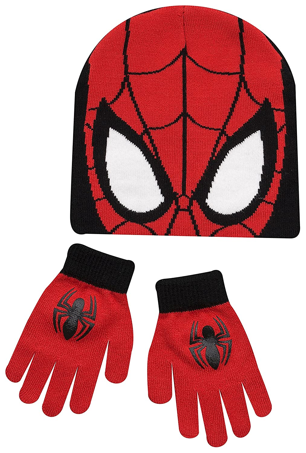 Spiderman Hat Gloves Boys Winter Set Ages 4-8 Years 4-8 Years  Red    Amazon.co.uk  Clothing 7a5442e69307