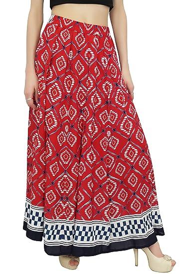 Bimba Falda de Algodon con Estampado de Batik para Mujer Falda ...