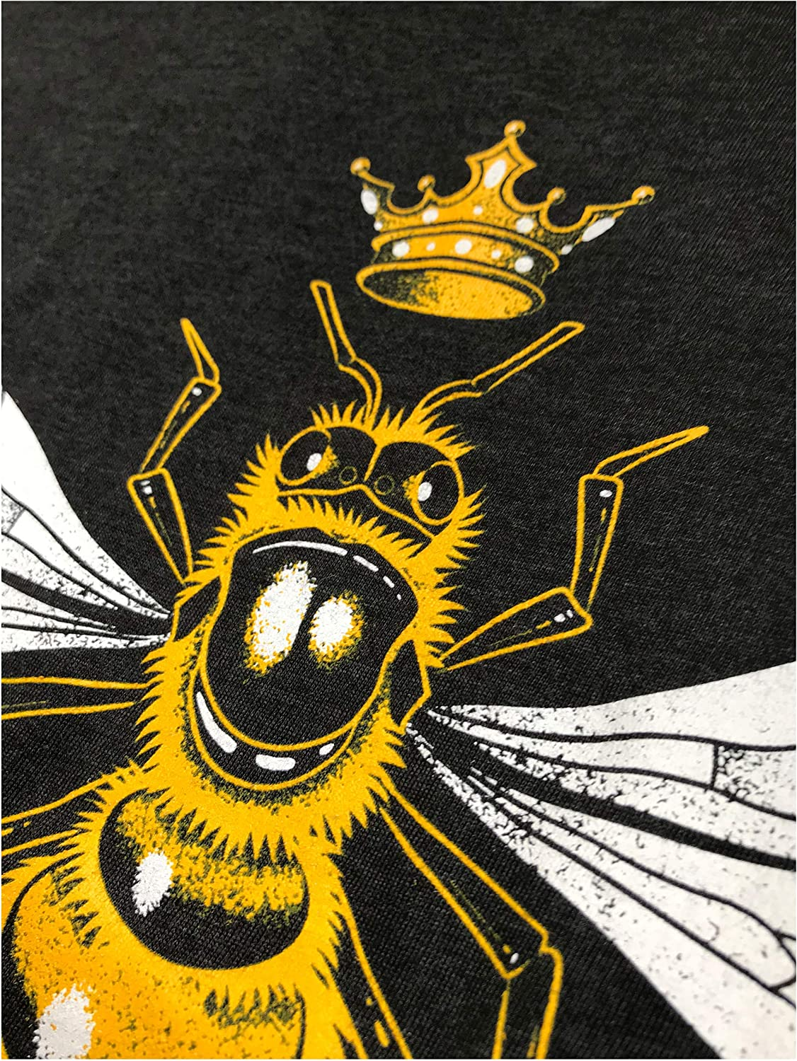 Cute Womens V-Neck T-Shirt Queen Bee Cool Boss Lady Crown Alpha Top Funny