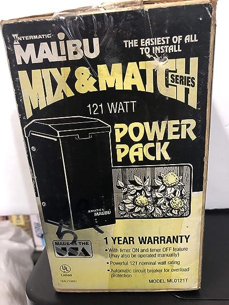 Amazon Com Intermatic Malibu Ml121tw Landscape Lighting Transformer Timer 121 Watts Garden Outdoor