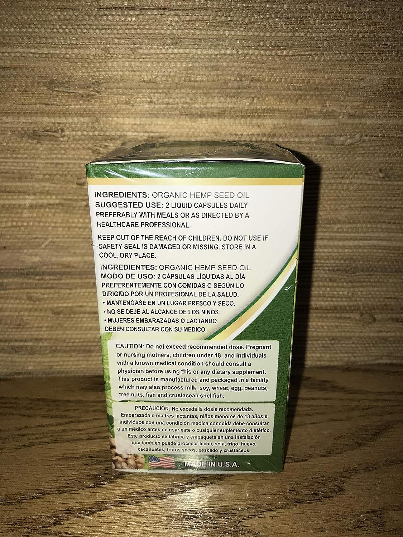 Amazon.com: K-Nabi Hemp Oil Capsules (60 Liquid Capsules of 500 mg Each): Health & Personal Care