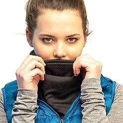 Ultimativer W/ärmeschutz umkehrbarer Nackenw/ärmer Bequemer Performance Polartec Fleece Vielseitig /& Stylisch verstellbar /& doppellagig Red Dust Active Fleece Halsw/ärmer
