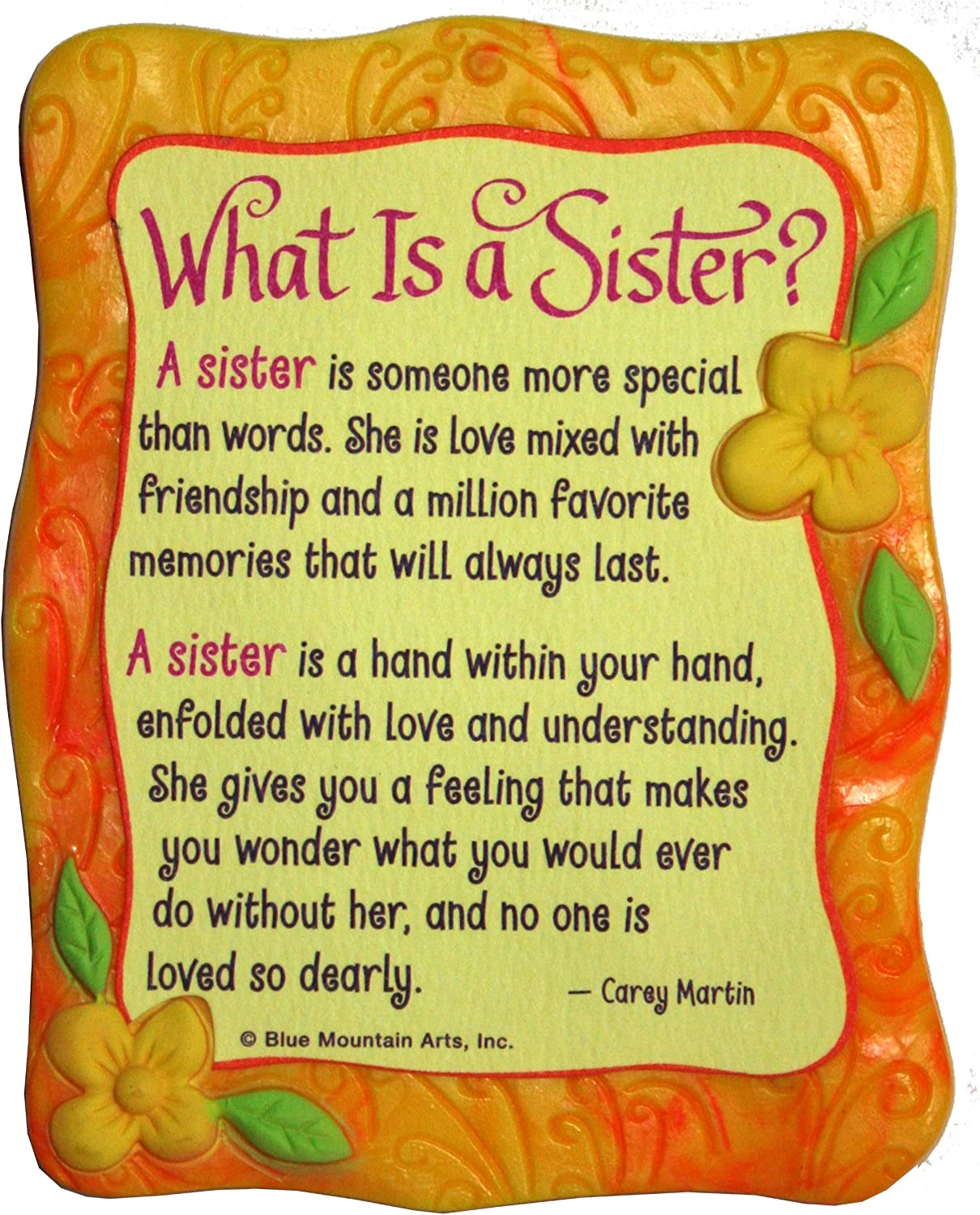 "Sculpted Magnet: What is a Sister, 3.0"" x 3.5"""