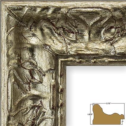 Amazon Craig Frames Arqadia Vintage Rustic Silver Picture