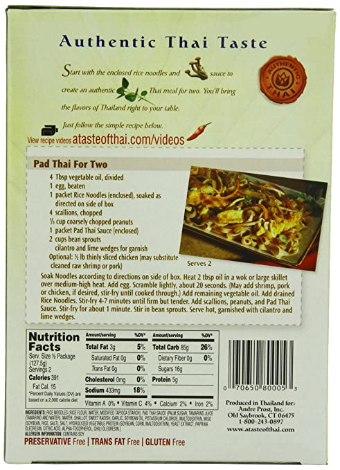 Amazon a taste of thai pad thai for two mix 9 ounces pack amazon a taste of thai pad thai for two mix 9 ounces pack of6 gourmet seasoned coatings grocery gourmet food forumfinder Image collections