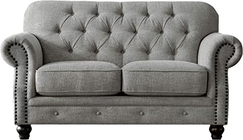 Acanva Luxury Chesterfield Chenille Living Room Sofa
