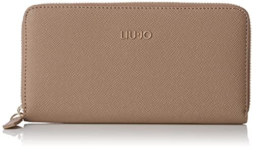 Liu Jo - Xl Zip Around Manhattan, Carteras Mujer, Marrón (Arenaria),