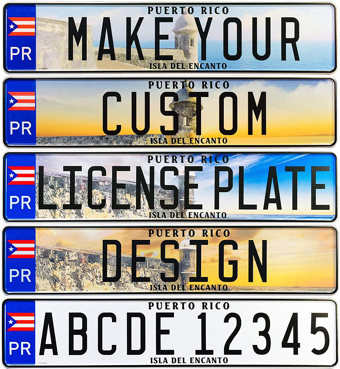 FRAME Customized Custom Germany European Euro License Plate German RED TEXT