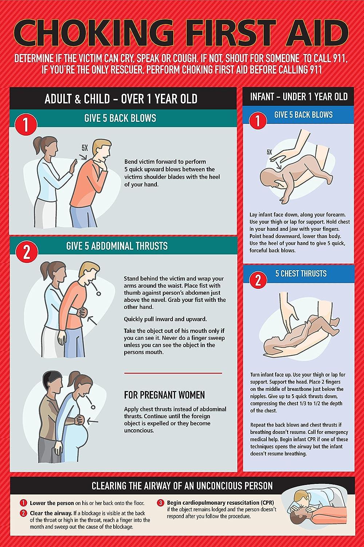 Safety Choking Victim Poster Measures 12