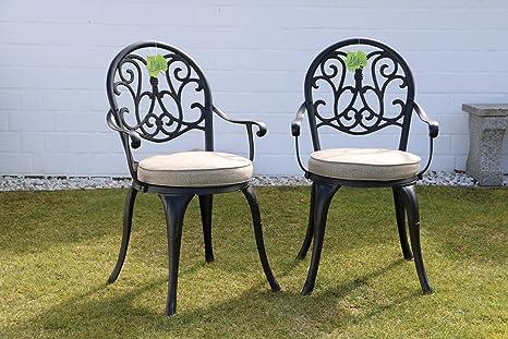 Sedie da giardino in alluminio pressofuso resistente alle