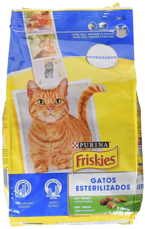 Purina Friskies Esterilizados Gato con COnejo y Verduras 1,5 kg: Amazon.es: Amazon Pantry