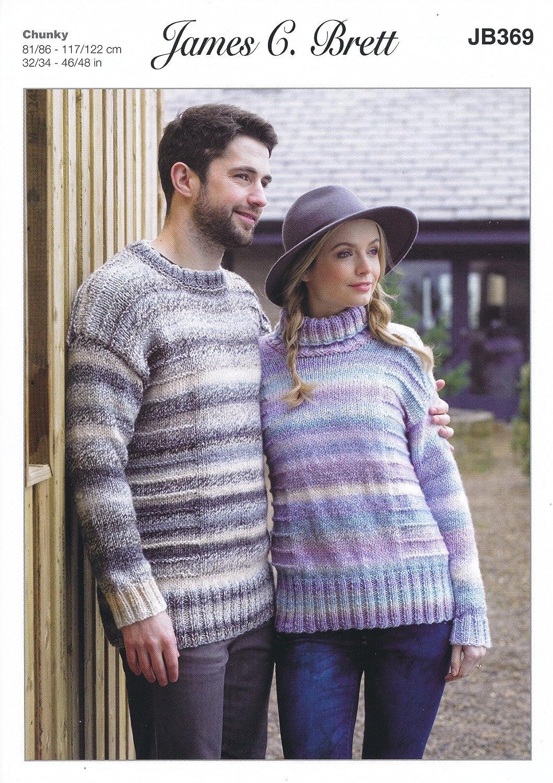 Amazon James Brett Knitting Pattern Womens Mens Round Or Polo